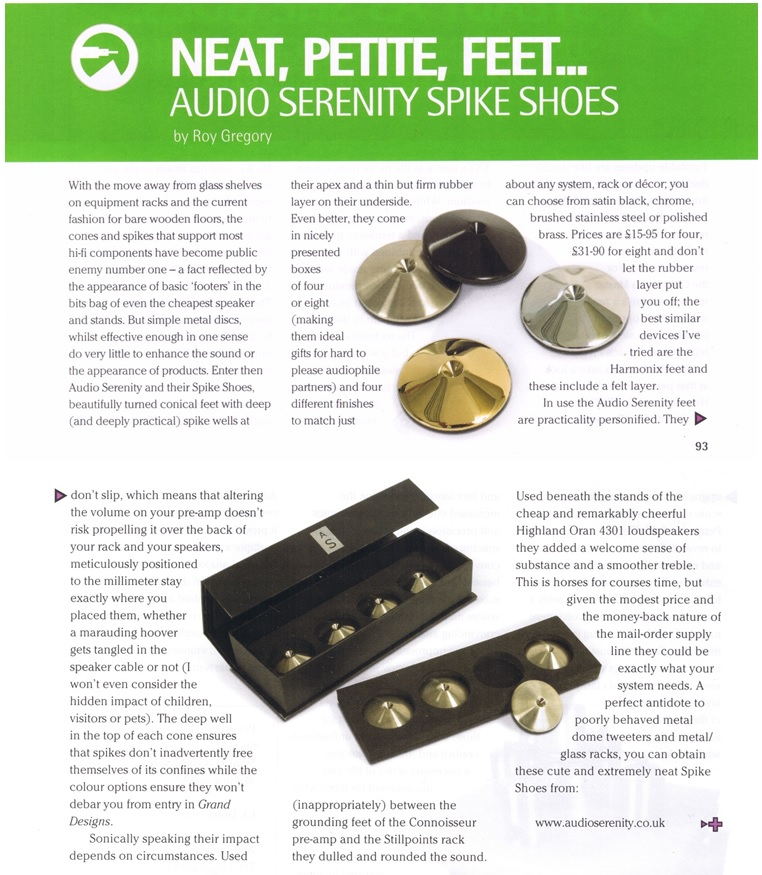 AudioSerenity Spike Shoe Review